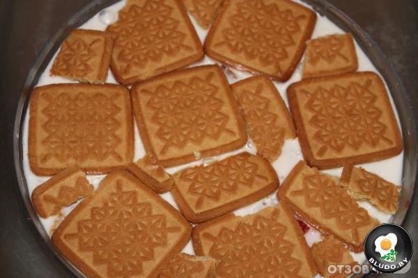 Торт желейный с печеньем рецепт